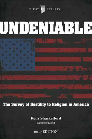 Cover Undeniable: The Survey of Hostility to Religion in America
