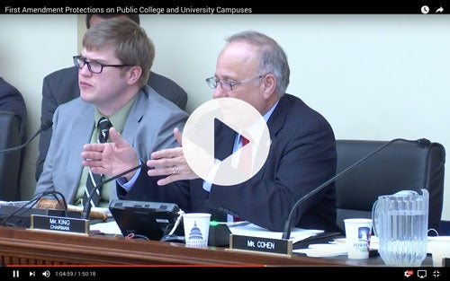 Video1 ON CAPITOL HILL: First Liberty Testifies About Hostility Against Religious Students