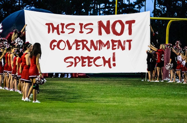 This is NOT Government Speech