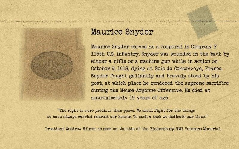 Bladensburg   Maurice Snyder   First Liberty