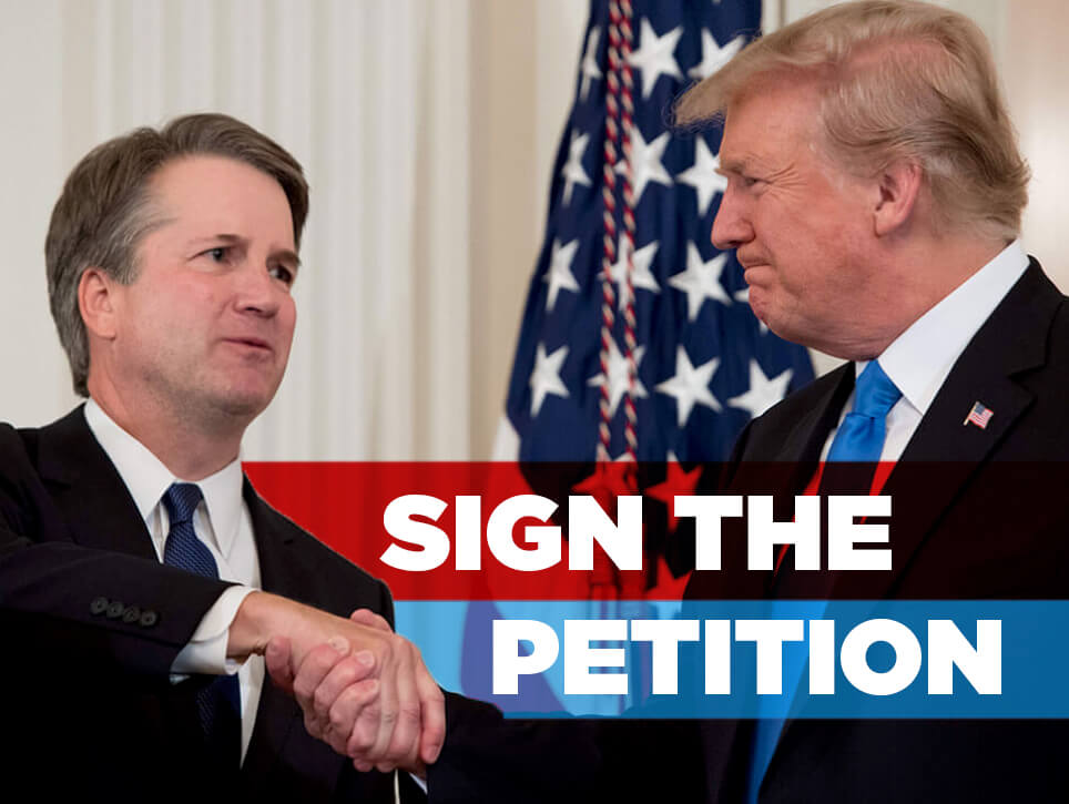 Sign the Petition to Support Supreme Court Nominee Brett Kavanaugh