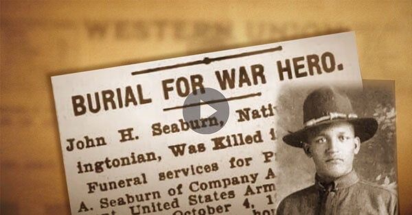 WWI Hero John Henry Seaburn   First Liberty