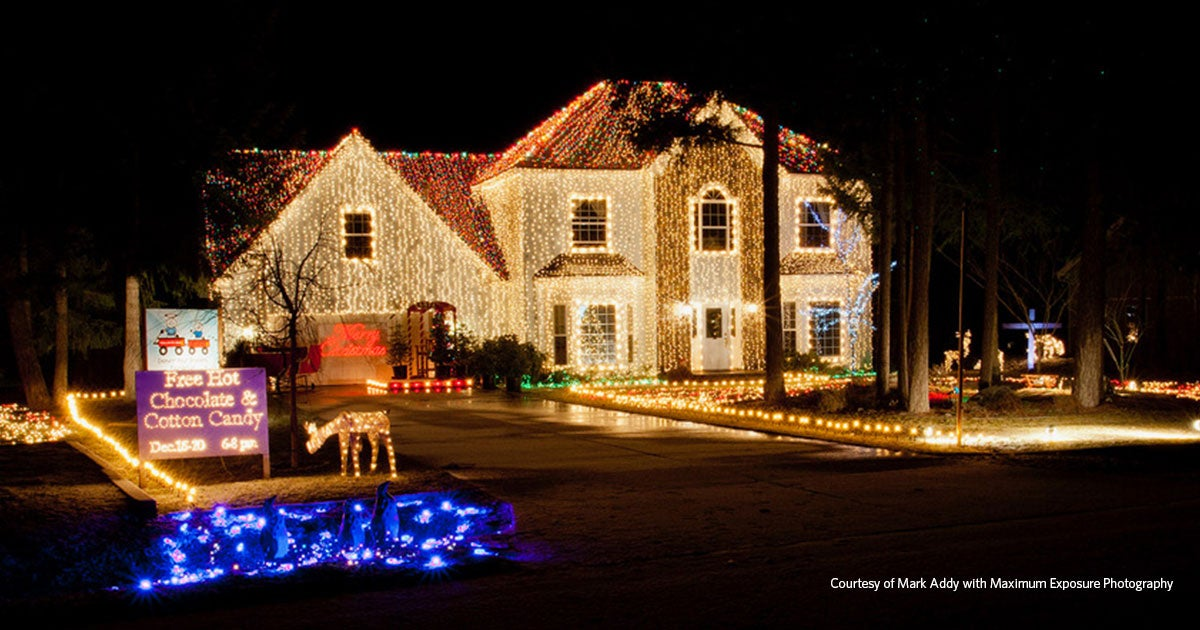 hook up christmas lights to speakers