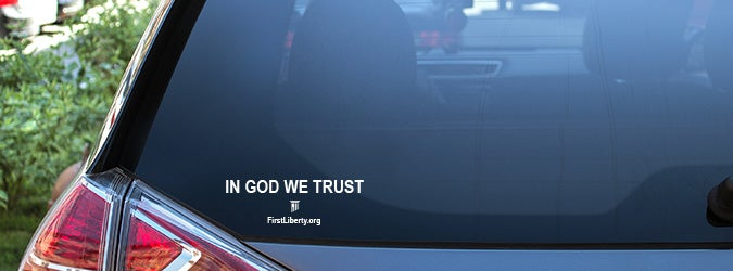 Free In God We Trust Window Cling | First Liberty