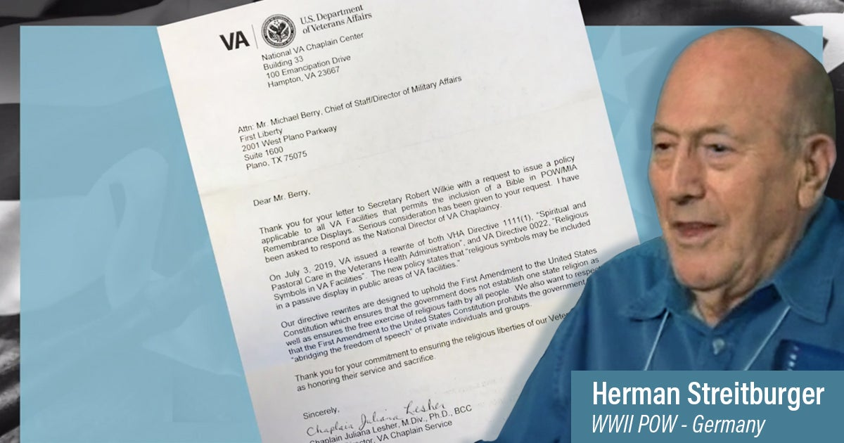 VA Announces Policy Change | First Liberty
