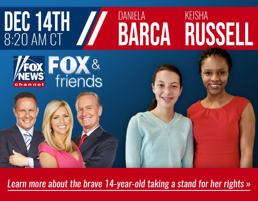 Daniela Barca on Fox & Friends | First Liberty