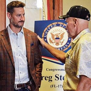 Rep. Steube w/ Veteran | First Liberty