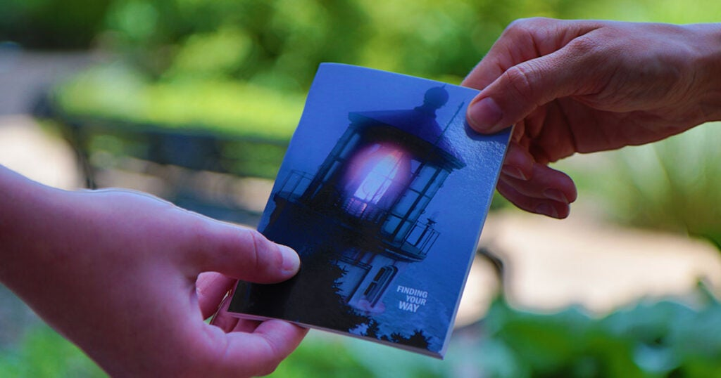 Handing out a Tract | Gail Blair | First Liberty