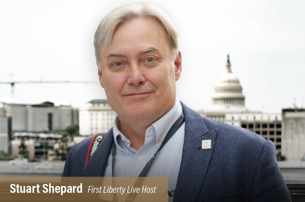 First Liberty Live Host Stuart Shepard