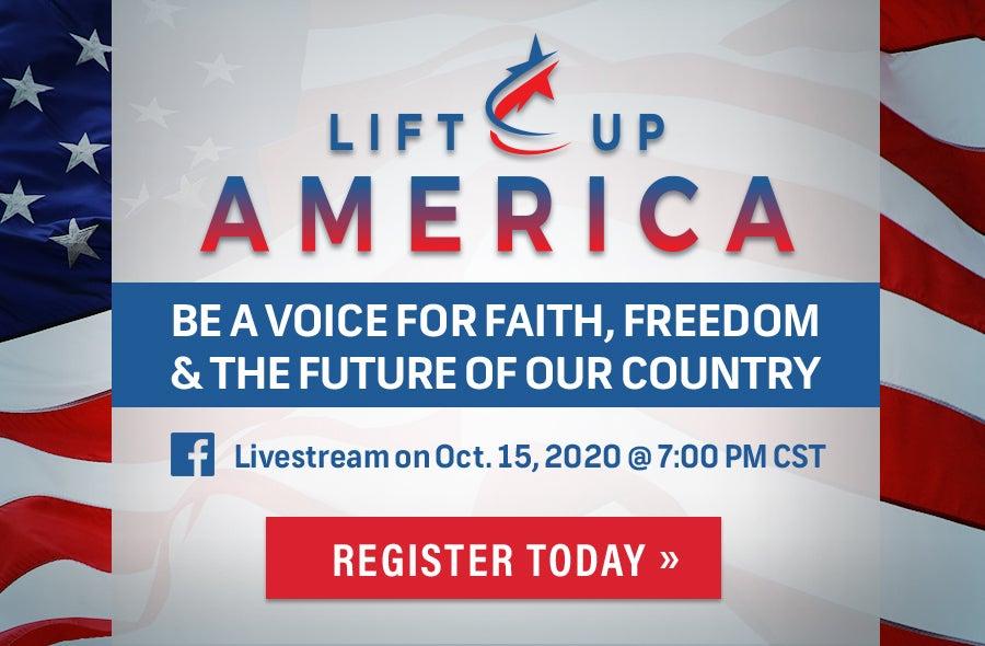 Lift Up America Banner