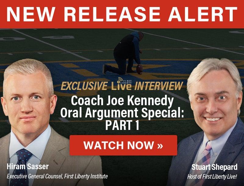 Coach Joe Kennedy   Watch Now   First Liberty Live!